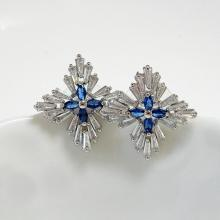 Tapered Baguette CZ earrings