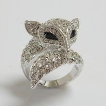 Fox Animal Swarovski Crystal Ring