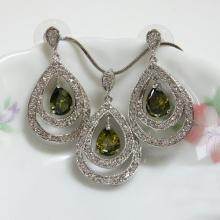 Pear CZ Fashion Jewelry Set