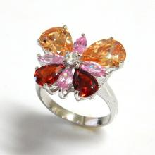 Butterfly Multi Color CZ Ring