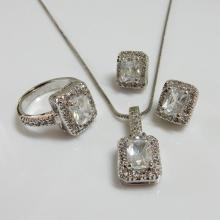 Emerald Cut CZ Fashion Jewelry Set